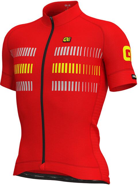 Alé Cycling Graphics PRR Strada Short Sleeve Jersey Men flou yellow